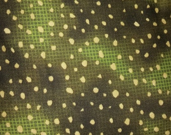 "Michael Miller ""Dot Tex"" green check fabric"