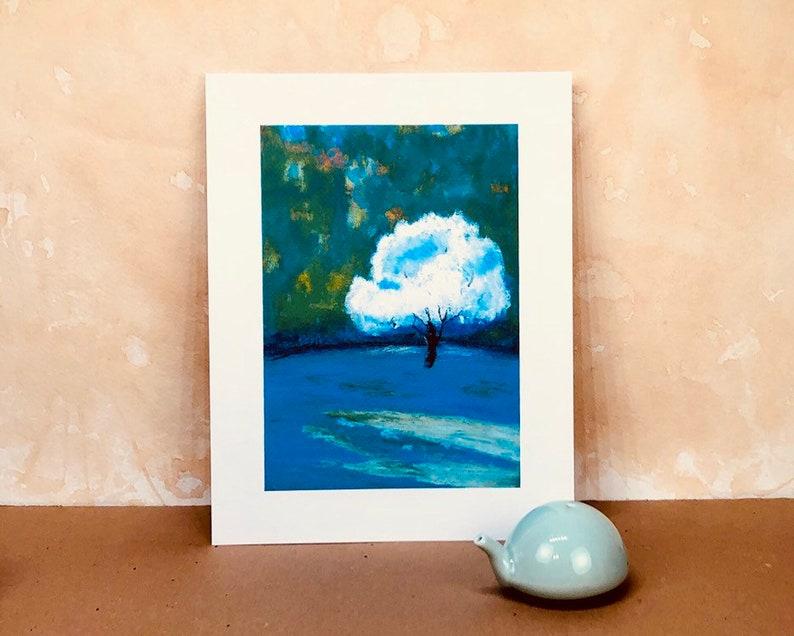 lone tree 80K sub specialArt print from original oil pastel painting
