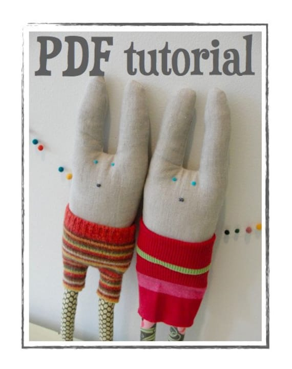 bunny rabbit softie pdf pattern. PDF TUTORIAL rabbit softie sewing pattern to make cooper and millie by looploft