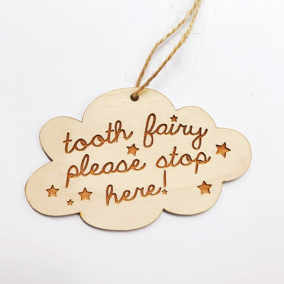 Tooth Fairy Door Hanger Reminder Sign Tooth Fairy Please Etsy