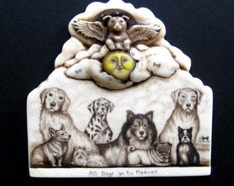 Angel dog lab corgie yorkie boston terrier pug golden retriever  wall plaque