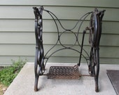 Antique Standard Cast Iron Treadle Sewing Machine Base - PICK UP ONLY