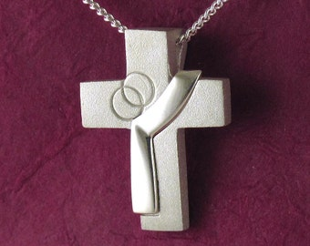 Deacon Wife Cross, Silver Deacon's Wife Pendant with Chain, Religious Jewelry, Deacon Stole Cross, from our Spiritus Collection