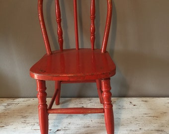 red chair etsy