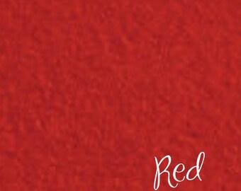 DESTASH 12x18 Wool felt Red