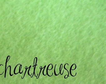 DESTASH 12x18 Wool Felt Chartruese