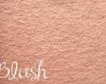DESTASH 12x18 Wool felt Blush/Blushing Bride
