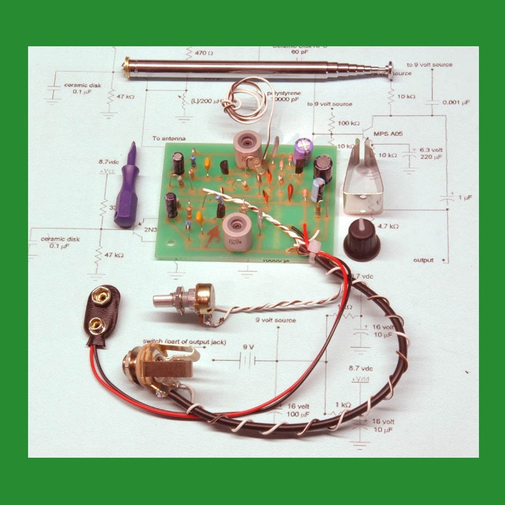 Kit Theremin Diy No Soldering Turn Any Object Into A Sci Etsy Circuit Diagram Zoom