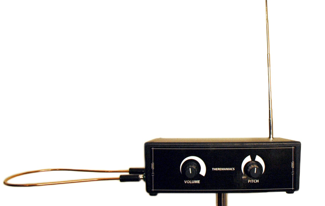 Theremin Pitch And Volume Antenna Electronic Musical Etsy Theremincircuit Instrument Ac Battery Operation