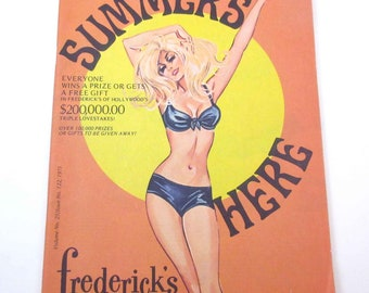 39410c51a45 Vintage 1970s Frederick s of Hollywood Lingerie and Clothing Catalog Summer  1971