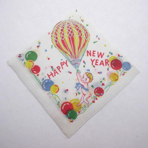3 SERVIETTES EN PAPIER BONNE ANNEE VOEUX 3 PAPER NAPKINS HAPPY NEW YEAR PARTY
