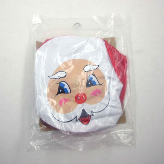 Vintage Christmas 24 Inch Inflatable Blow Up Vinyl Santa Claus in Original Package Made in Taiwan
