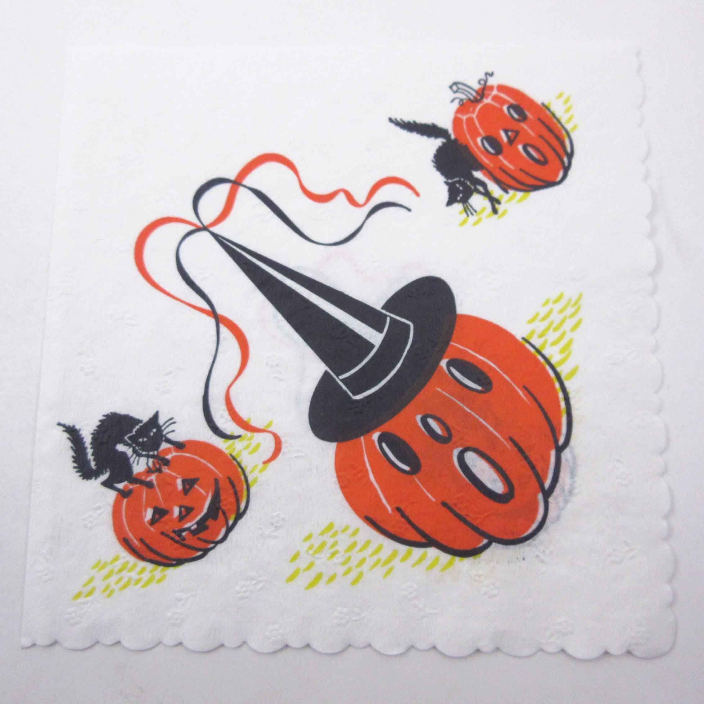 Vintage Halloween Napkins