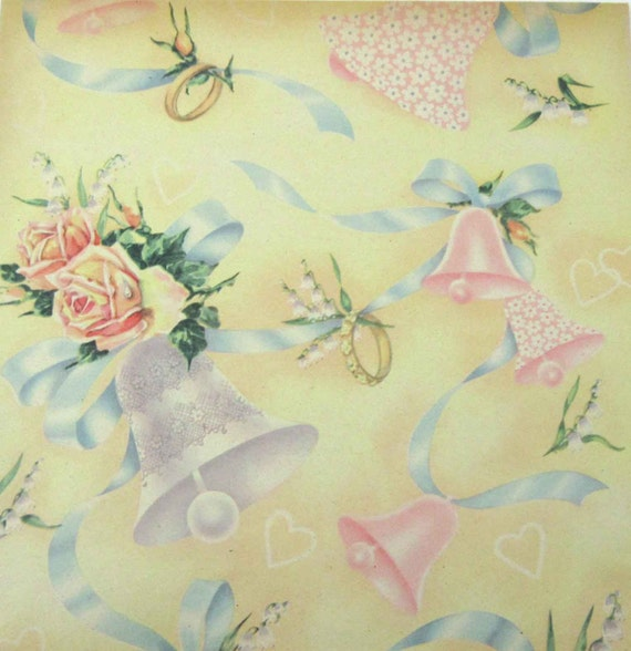 e13c83ca57a Vintage Wedding or Bridal Shower Wrapping Paper or Gift Wrap