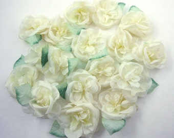 Vintage Light Yellow or Ivory Flowers for Millinery Hats Corsage Crafting Set of 17