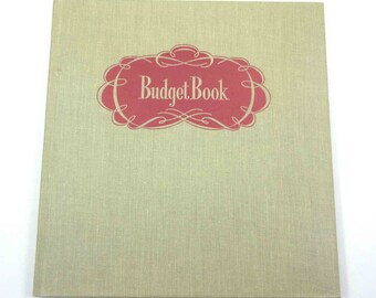 1940s budget book etsy