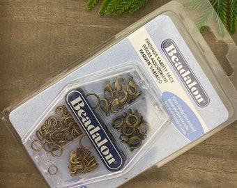 Findings Variety Pack, Antique Brass Color