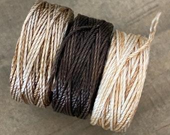 B-Lon, Tex 210 nylon cord, sold by pack of 3 spools, 20 yards each