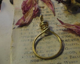 Hammered Charm Holder Brass
