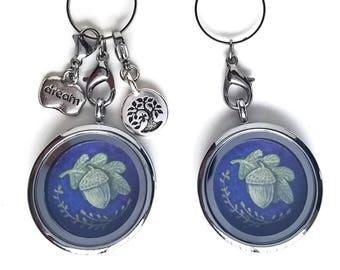 Acorn Locket - Acorn Jewelry - Acorn Charm Necklace - Floating Locket Necklace - Mothers day gift - Wearable Art