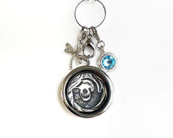 Otter Locket - Otter Jewelry - Otter Charm Necklace - Floating Locket Necklace - Mothers day gift - Wearable Art