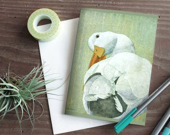 Bird Blank Card Set - Notecards - Blank card - Duck