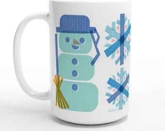 Snowman Snowflake15oz Nordic Style Mug