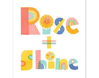 Rise and Shine Hand Lettering Poster