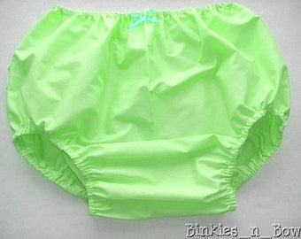 Adult Baby Sissy Littles abdl ~ SIMPLY MINT Diaper Cover/Panty ~ Dress Up ~ Binkies n Bows