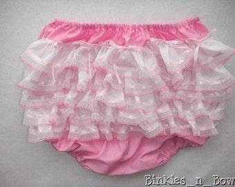 Adult Baby Sissy Littles ABDL ~ PINK RHUMBA Diaper Cover ~ Panty ~ Dress Up ~ Binkies n Bows