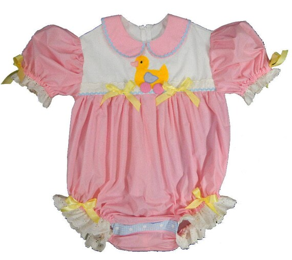 Adult Baby Sissy Yellow Pull Toy Ducky Dress Set  Binkies/_n/_Bows