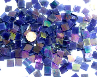 Grape Iridescent Mosaic Tile