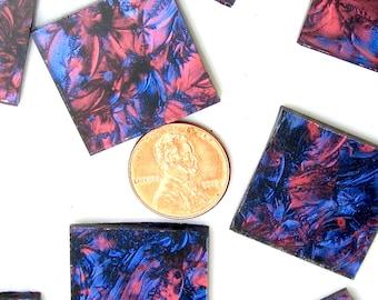 Van Gogh Blue Red Mosaic Tile