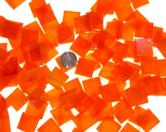 Bright Sunset Orange Mosaic Tiles