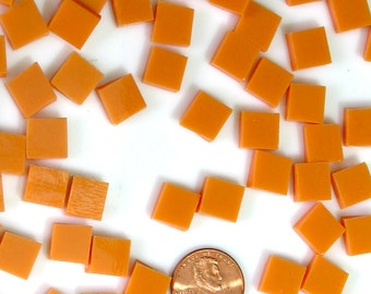 "150 Persimmon Orange Opal 3/8"" Square Mosaic Tiles"
