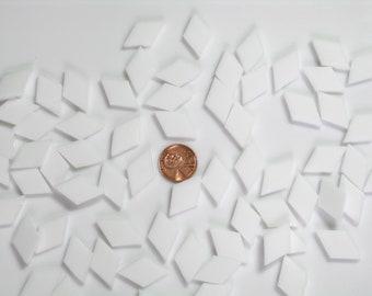 100 Snow White Opal Mosaic Tiny Diamond Tile