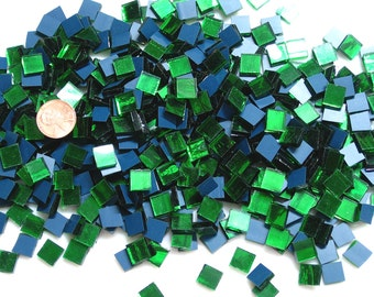 "Green Mirror Mosaic Tile ""Emerald Ice"""