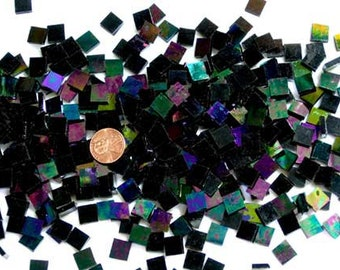 Black Iridescent Mosaic Tile