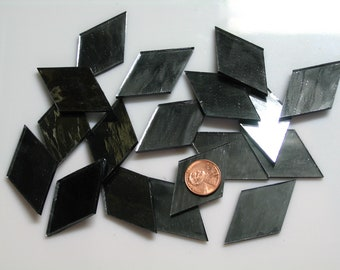 """Dark Gray Mirror Mosaic Tile """"Gun Metal"""""""
