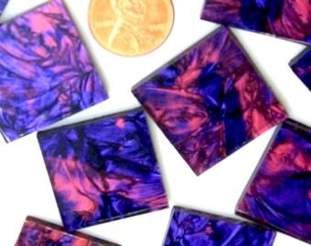 Van Gogh Violet Red Mosaic Tile