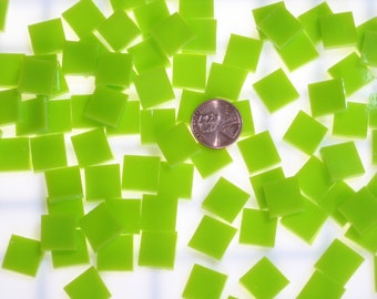 "500 Lemongrass Green Opal 1/2"" Mosaic Tiles, Spectrum System 96 Fusible Stained Glass, 3 Shapes 12 Sizes Quantity Discount & Free Shipping!"