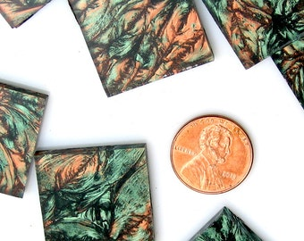 Van Gogh Green Copper Mosaic Tile