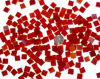 Cherry Red Mosaic Tile