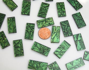 Spring Green Mosaic Tile Hand Cut From VGSG Van Gogh Glass, Choose From 3 Shapes & 12 Different Sizes, Perfect for Mosaic Art and Crafts