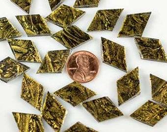 Van Gogh Gold Sparkle Mosaic Tile