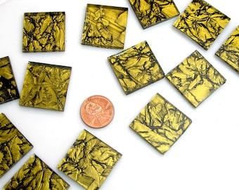 Gold  Mosaic Tile Hand Cut From VG900 Van Gogh Glass, Choose From 3 Shapes & 12 Different Sizes, Perfect for Mosaic Art and Crafts
