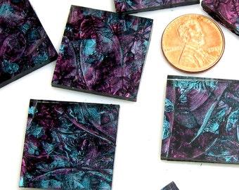 Van Gogh Purple Blue Green Mosaic Tile