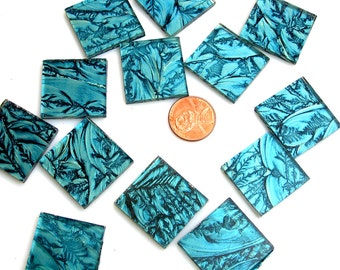 Van Gogh Blue Green Mosaic Tile