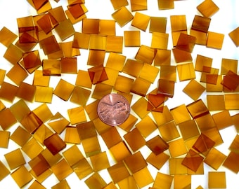 Light Amber & White Wispy Mosaic Tile