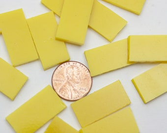 "50 Sunflower Yellow Opal Mosaic Tile Borders, 1/2"" Wide X 1"" Long,"